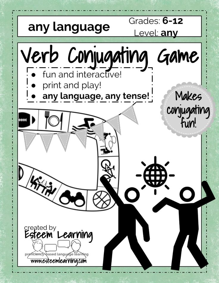 Collaborative Learning Classroom Activities : Verb conjugation game practice conjugating any tense