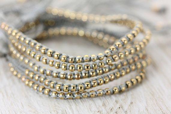Vriendschap armband  Een Boho Macrame goud & door ChristinaGuenther
