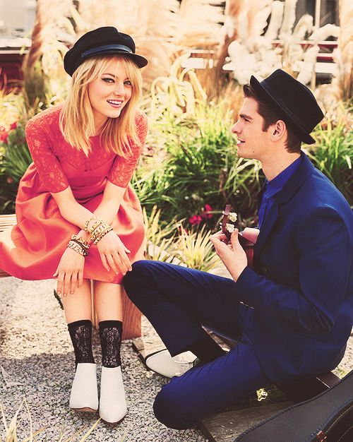 obsessed.: Teen Vogue, Emma Stone, Cutest Couple, Spider Man, Beautiful People, Stones, Andrew Garfield, Andrewgarfield