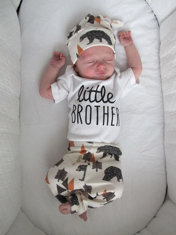 Little Brother Onesie for that adorable tiny man in your life! Our Little Brother Onesie is a sure perfect bet for the new Little One to Come. Also comes in long sleeve with adjustable mittens.