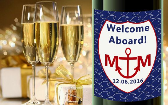 Check out this item in my Etsy shop https://www.etsy.com/listing/270344933/nautical-wine-labels-champagne-bottle