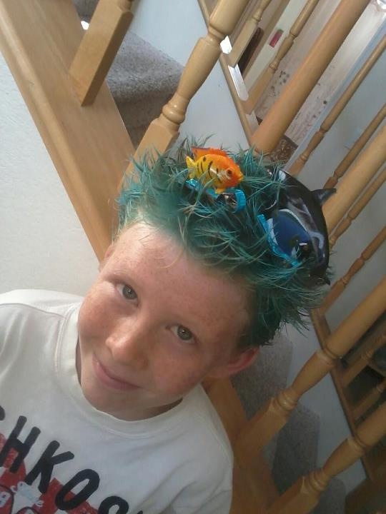 crazy hair day idea. | Crazy Hair Day | Pinterest | Crazy ...