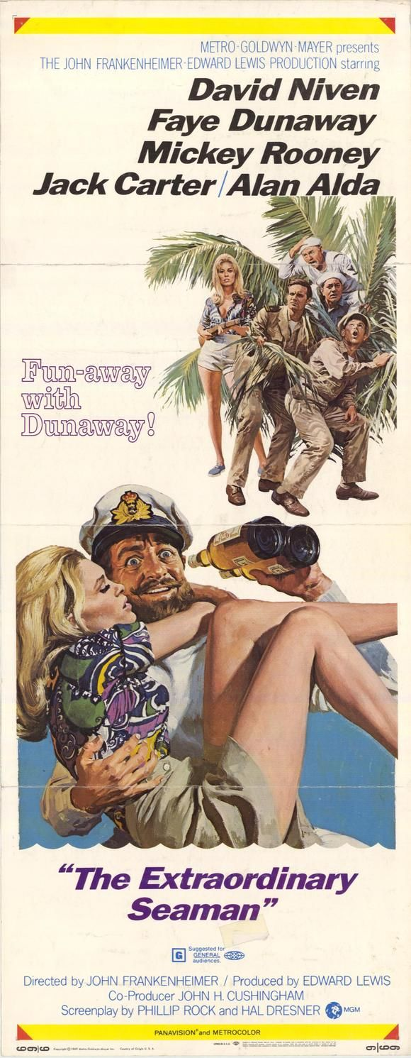The Extraordinary Seaman (1969) Stars: David Niven, Faye Dunaway, Alan Alda, Mickey Rooney, Jack Carter ~ Director: John Frankenheimer