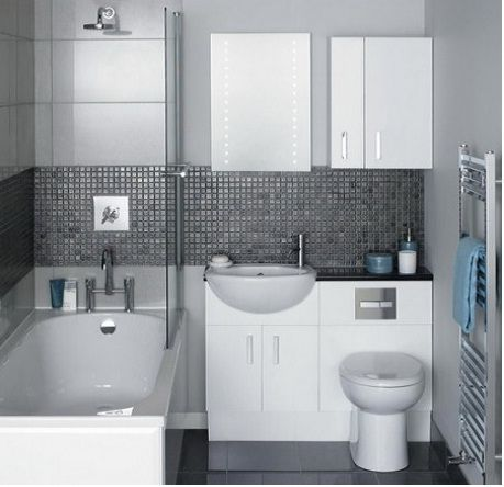Small Bathroom ideas with pedestial sink - This is super compact getting the most from the space.