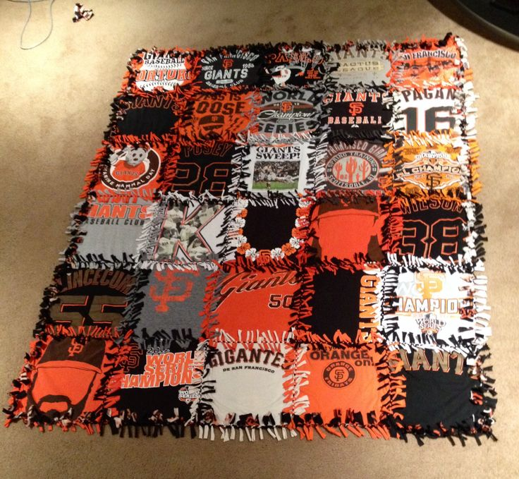 Giants Themed T Shirt Tie Blanket Collected All The