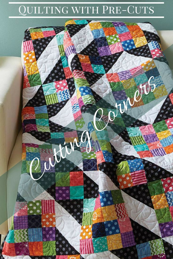 Pair bright, large prints with a black print to create movement in this creative throw. Strip sets enable you to make the Sixteen Patch units in this quilt pattern quickly! Get the QUILT KIT while supplies last!