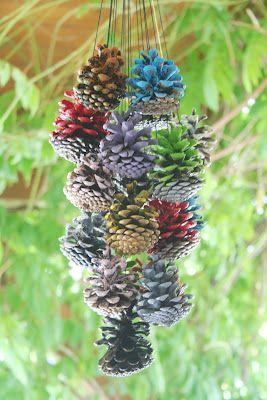 Pine cone mobile