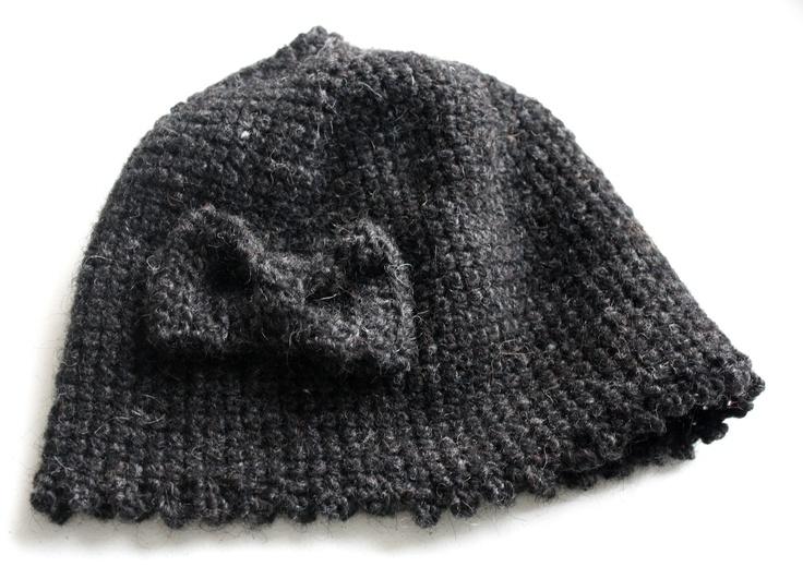 #crochet #bow #beanie