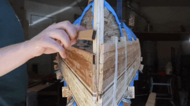 Watch Every Painstaking Step of Building a Beautiful Wooden Canoe