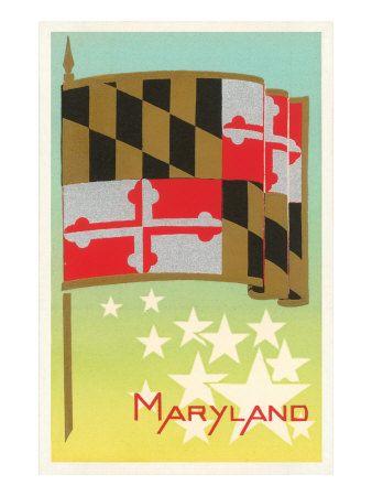 Flaggen / Flags - Maryland - Vereinigte Staaten von Amerika / United States of America / USA