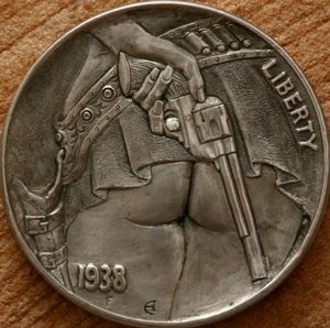Hobo Nickel art by Aleksey Saburov. ❣Julianne McPeters❣ no pin limits