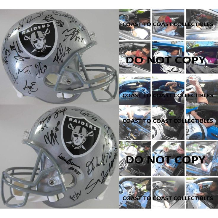 2016 Oakland Raiders Team, Signed, Autographed, Riddell Full Size Football Helmet, a COA with the Proof Photos of the Raiders Players Signing the Helmet Will Be Included.Derek Carr Plus More
