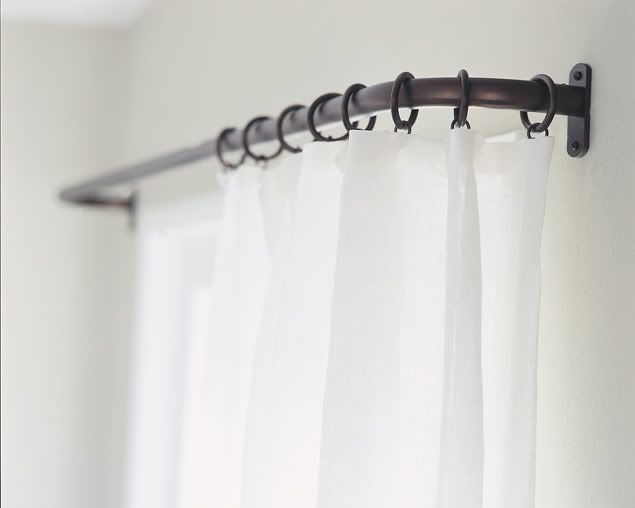 french pole returns to the wall with no simple style corner curtain rodcurved