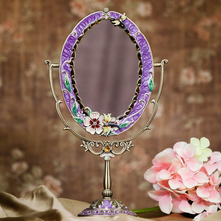 Cheap Nueva Señora Retro Estaño Aleación de Belleza Espejo de Vanidad Espejo de Maquillaje Para Mujer Cosmética Tocador Espejo Decorativo Espejo de Pie, Compro Calidad Espejos decorativos directamente de los surtidores de China: Nueva Señora Retro Estaño Aleación de Belleza Espejo de Vanidad Espejo de Maquillaje Para Mujer Cosmética Tocador Espejo Decorativo Espejo de Pie