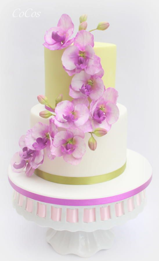 orchid cake on pinterest orchid wedding cake gold wedding cakes
