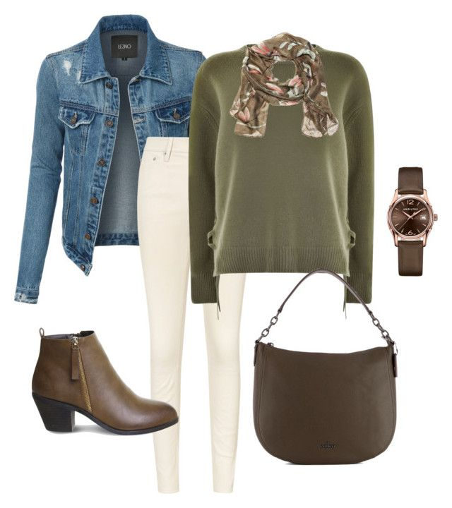 """""""Untitled#194"""" by bidlekerika on Polyvore featuring LE3NO, Vince, Office, Coach and Hamilton"""