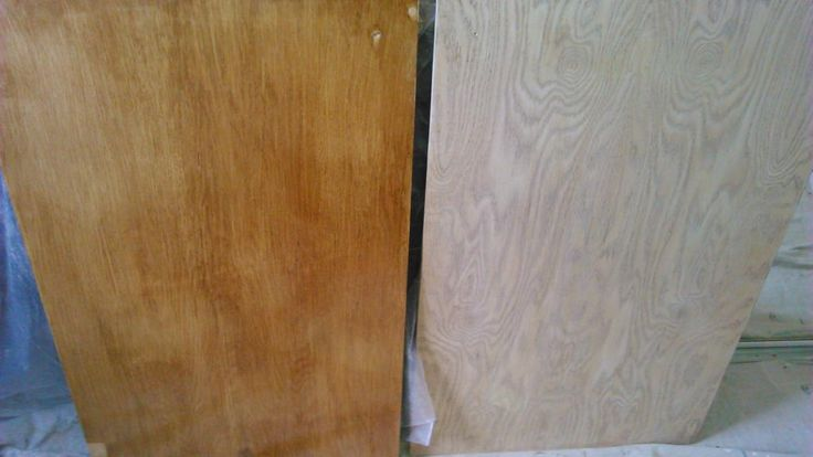 Sanding and removing old varnish on cabinet doors