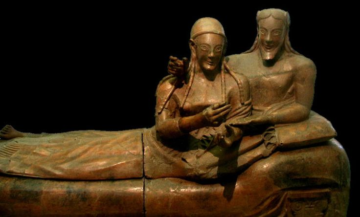 etruski sarkofag małżonków z Caere, VI w p.n.e.