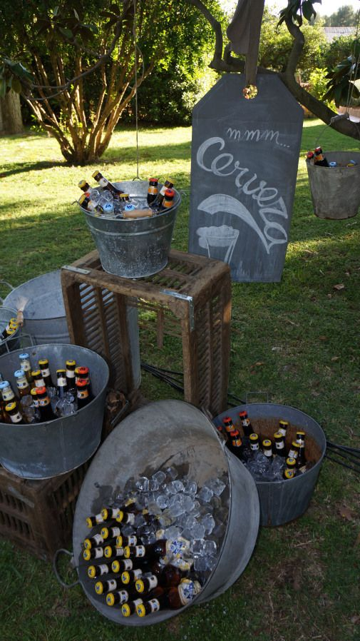 We have galvanized buckets at Tarnished Vintage Rentals.