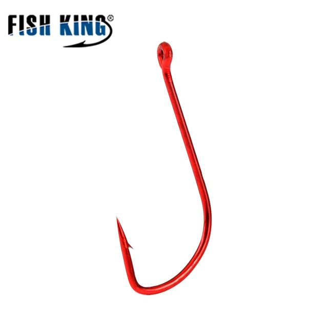 Fish King 10pcs Fishing Hook Sode Barbed Fishhook Bent Baitholder Fly Fishing Tackle Owner Ad Sharp Ringed Carp H Fly Fishing Tackle Fishing Tackle Fly Fishing
