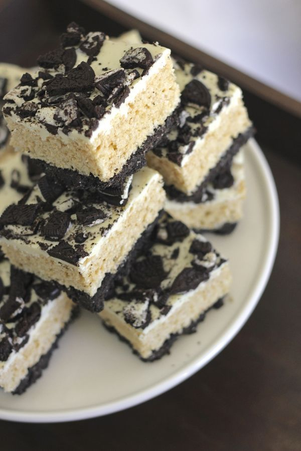 Cookies and Cream Rice Krispie Treats - interesting, doesn't sound too too sweet