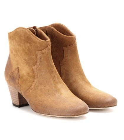 #IsabelMarant DICKER SUEDE ANKLE BOOTS