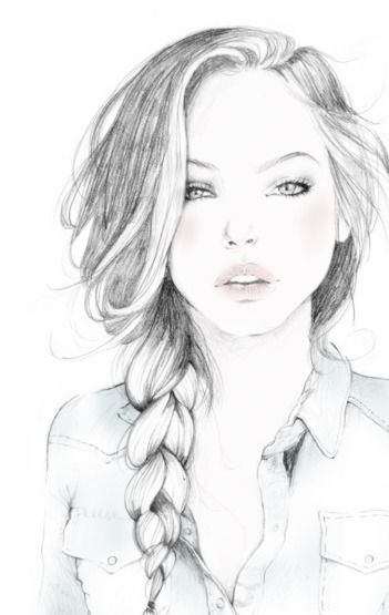 Beautiful. #girl #art #sketch #drawing #illustration #hair