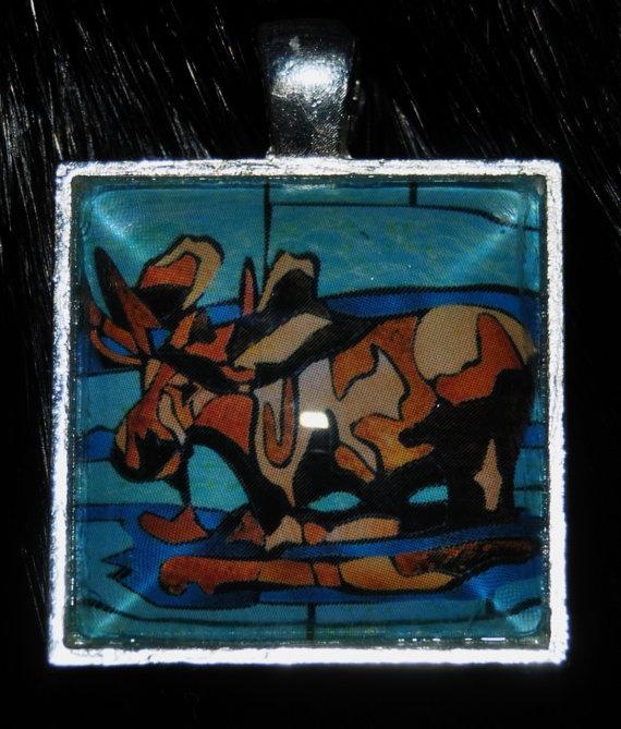 Moose Pendant by KabloonaKreations on Etsy, $18.00