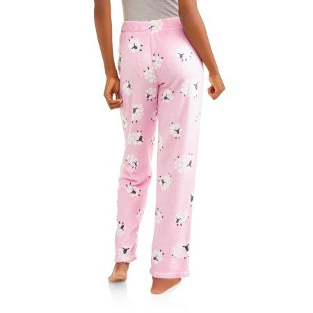 Secret Treasures Women's Super Minky Plush Pajama Sleep Pants, Size: Large, Pink
