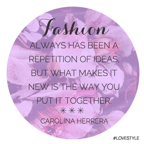 "Manic Monday: ""Fashion"" by Carolina Herrera #LoveStyle #ManicMonday"