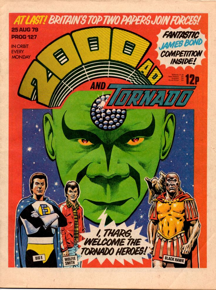 2000AD AND TORNADO 25 August 1979 Graphic novel cover