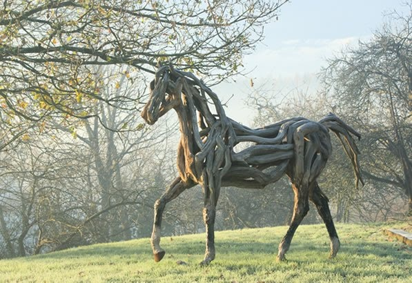 Horse made out of driftwood!