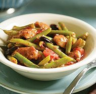 Braised Italian Chicken with Green Beans, Tomatoes & Olives | Recipe ...
