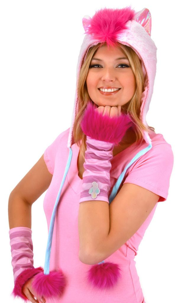 Party hard, party often! If you were Pinkie Pie you'd be up to throw down anywhere! If you love My Little Pony, consider yourself a Brony, then this officially-licensed Pinkie Pie Hoodie Hat Costume Headpiece would be perfect you. Perfect for making a DIY My Little Pony Halloween costume or a DIY Pinkie Pie cosplay outfit, this Pinkie Pie hoodie hat is wicked awesome