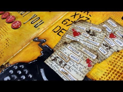 Step by step video on creating an art journal layout. Blog Post: http://www.clips-n-cuts.com/2015/02/art-journal-love/ ——— S U P P L I E S ——— • Moleskine Sk...