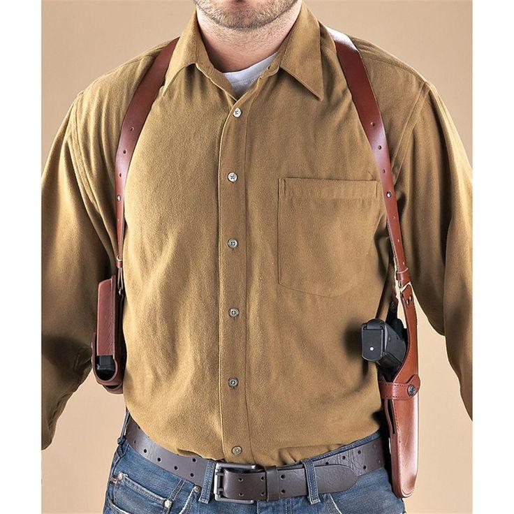 Vertical Shoulder Holster, Brown