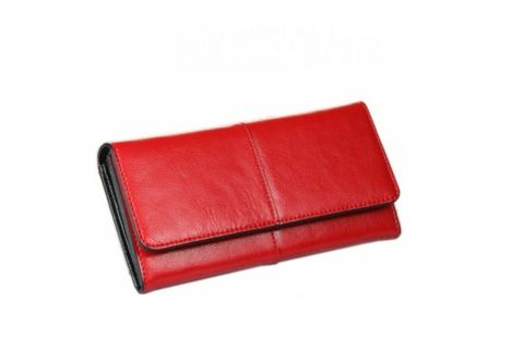 Modern Desing Red Colour PU Women Purse