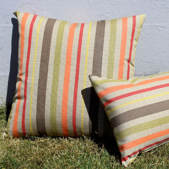 Love the warm colors in the Pillow Decor Sunbrella Solano Fiesta 20x20 Outdoor Pillow. http://www.pillowdecor.com/Sunbrella-Solano-Fiesta-20x20-Outdoor-Pillow-p/pd1-0019-01-20.htm   On Sale Now! $39.95