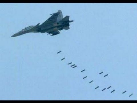 Russian Su-30 bombing islamic terrorists in Syria