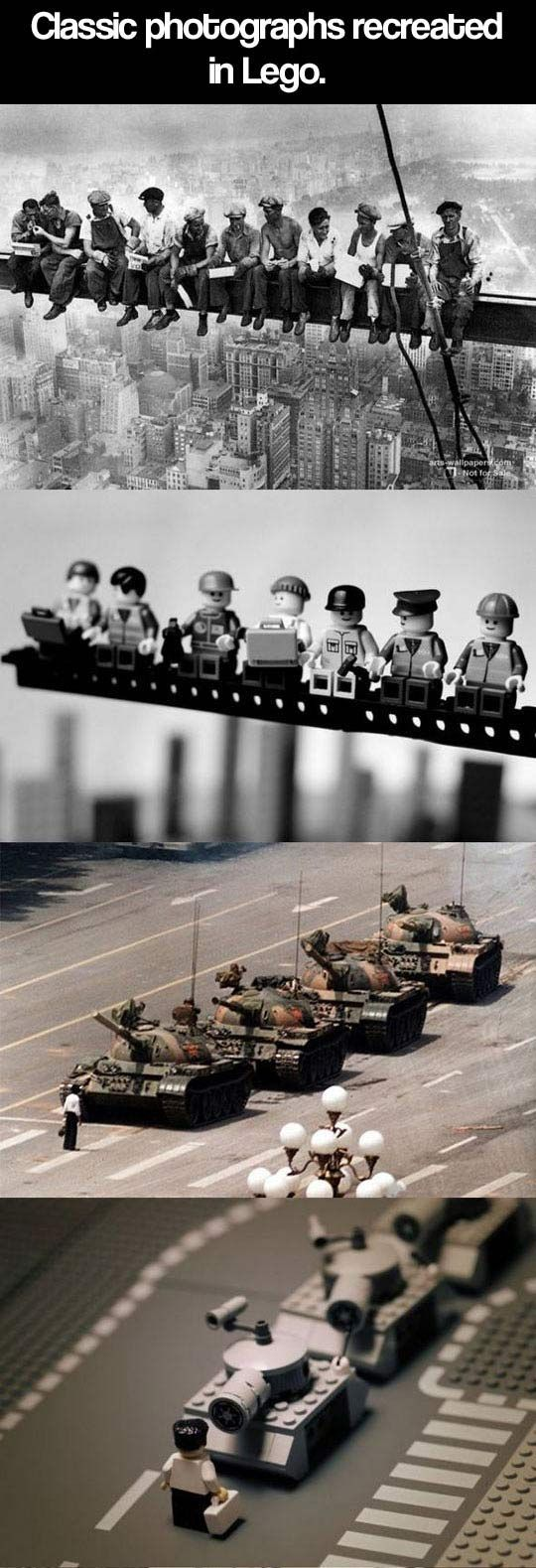 For the parents getting ready for LEGO KidsFest in a few weeks! Historical photographs recreated using LEGOs.