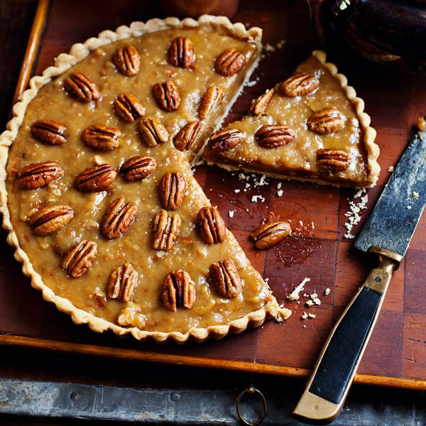 This caramel pecan tart with light flaky cream cheese pastry melts in the mouth.