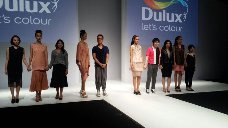 Designers line up for Dulux fashion show at Jakarta Fashion Week 2015.