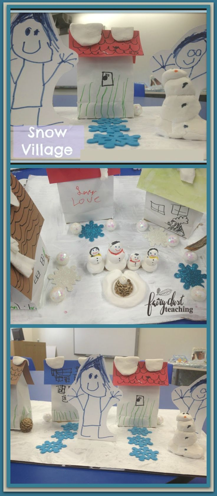 Snowball Village - A step-by-step guide to creating your own winter wonderland Snowball Village! Fairy Dust Teaching