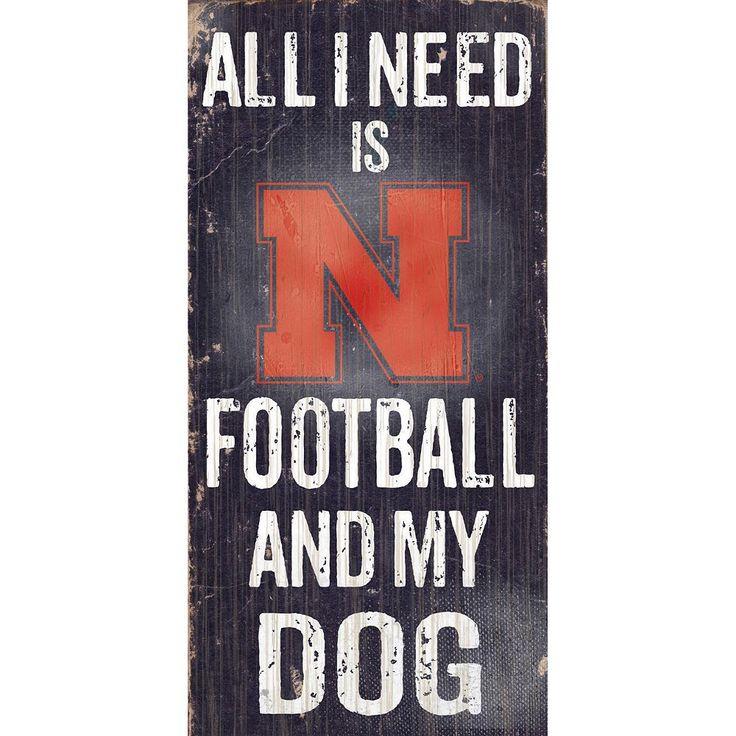 Nebraska Cornhuskers Football & My Dog Sign, Multicolor