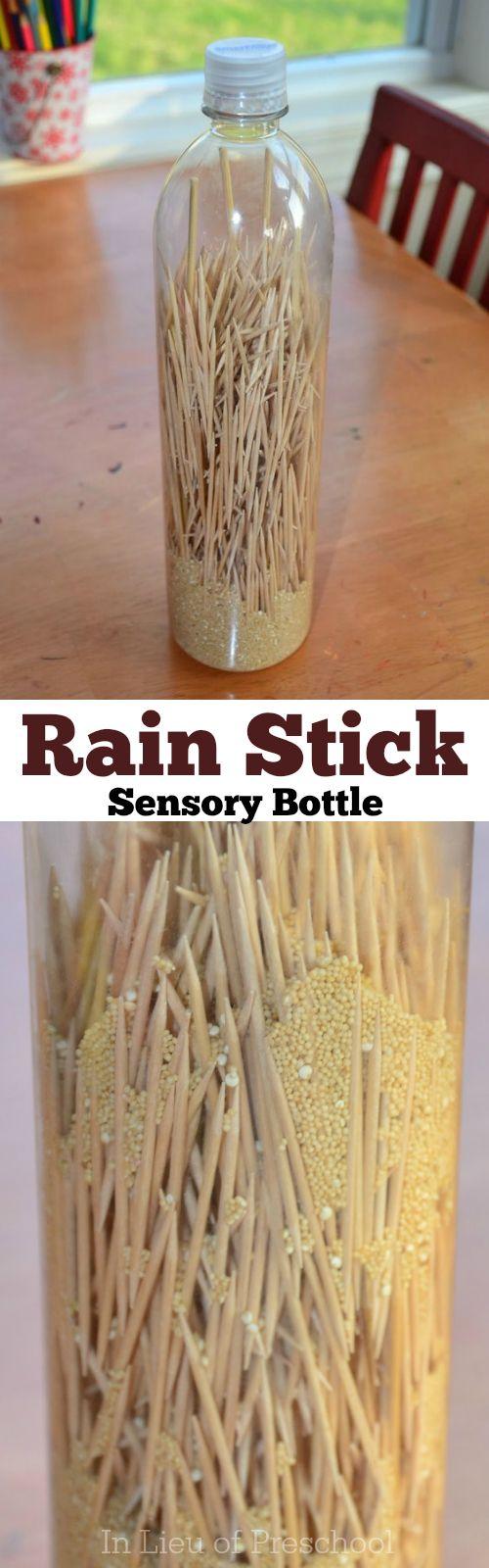 rain stick sensory bottle