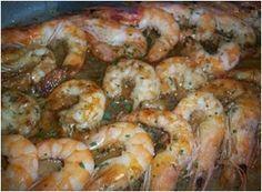 Langostinos Al Horno. Recetas, Recipes, Food, gastronomía, cocina...