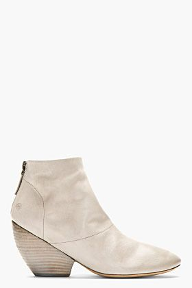 Marsèll Grey Leather Slouchy Ankle Boots