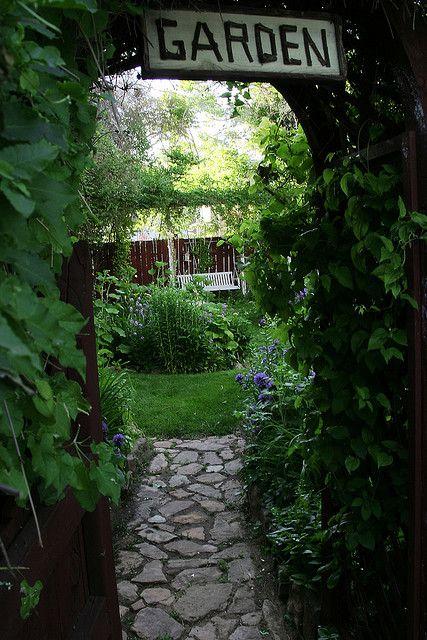 This would be a wonderful entry to my garden area. This could be the produce garden, and the other two could be connected on either side. Overgrown goodness on the left, clean cut with a bed shack on the right.