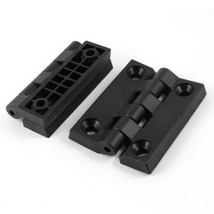 1 pair of plastic hinges (102 * 80mm) black
