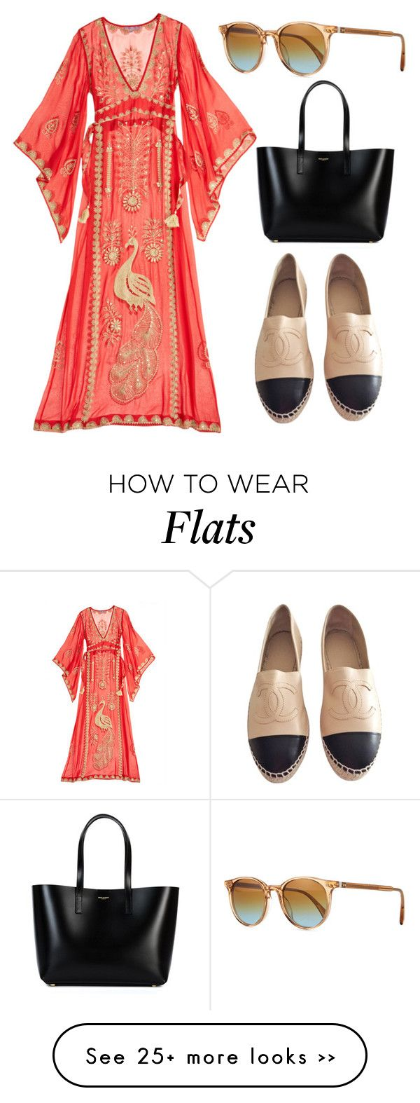 """""""Untitled #244"""" by gaildemps on Polyvore featuring moda, Calypso St. Barth, Chanel, Oliver Peoples e Yves Saint Laurent"""